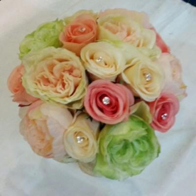 זר כלה מפרחים סנטטים