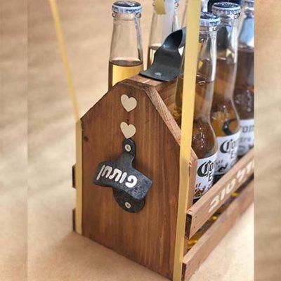 ארגז בירה עם פותחן